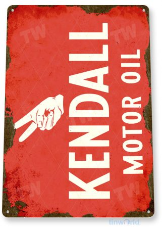 tin sign c210 kendall oil retro rustic oil gas station sign garage auto shop cave tinworld tinsign_com