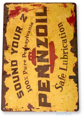 tin sign c217 pennzoil retro rustic oil gas station sign garage auto shop cave tinworld tinsign_com