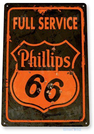 tin sign c219 phillips 66 retro rustic oil gas station sign garage auto shop cave tinworld tinsign_com