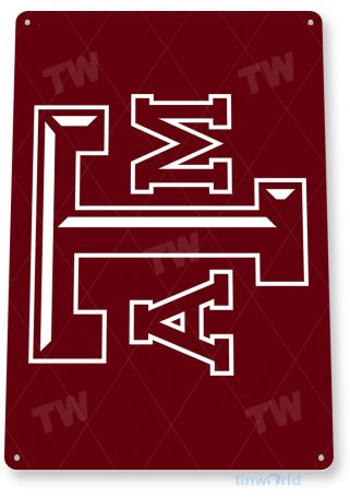tin sign c233 texas a&m university sports college sign tinworld tinsign_com