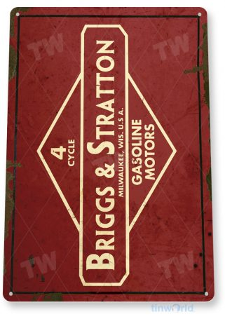 tin sign c254 briggs & stratton engine rustic retro garage auto shop store sign tinworld tinsign_com