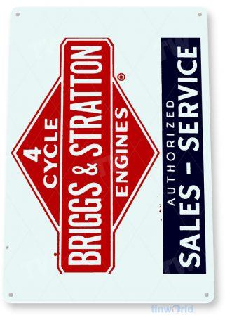 tin sign c255 briggs & stratton paint engine rustic retro garage auto shop store sign tinworld tinsign_com