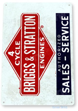 tin sign c256 briggs & stratton paint engine rustic retro garage auto shop store sign tinworld tinsign_com