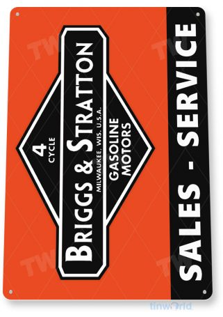tin sign c257 briggs & stratton sales service engine rustic retro garage auto shop store sign tinworld tinsign_com