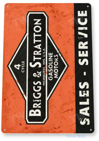 tin sign c258 briggs & stratton sales service engine rustic retro garage auto shop store sign tinworld tinsign_com