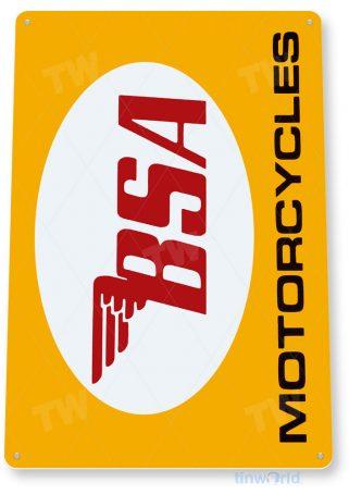 tin sign c259 bsa motorcycles retro garage auto shop store sign tinworld tinsign_com