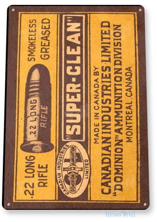 tin sign c262 canadian industry 22 long rifle retro box store ammo sign tinworld tinsign_com