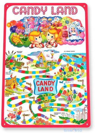 tin sign c263 candy land classic retro game board gameroom sign tinworld tinsign_com
