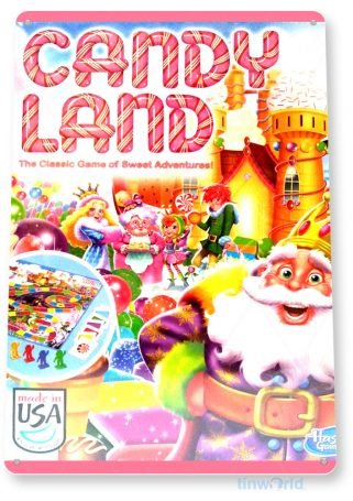 tin sign c264 candy land classic board game gameroom sign tinworld tinsign_com