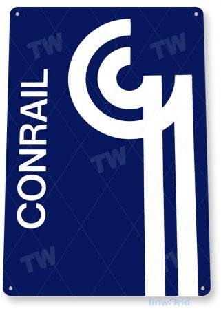 tin sign c275 conrail retro railroad station retro rustic railroad station sign tinworld tinsign_com