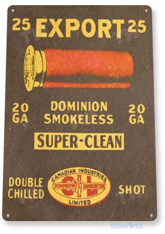 tin sign c292 export 25 shotgun shells retro box store ammo sign tinworld tinsign_com