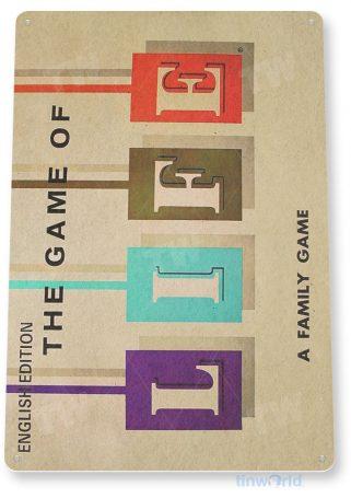 tin sign c300 game of life classic board game gameroom sign tinworld tinsign_com