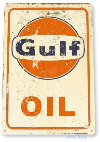 tin sign c303 gulf oil rustic retro gas station auto shop sign garage cave tinworld tinsign_com