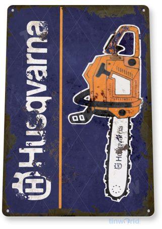 tin sign c307 husqvarna chain saws retro rustic tools equipment garage store shop sign tinworld tinsign_com