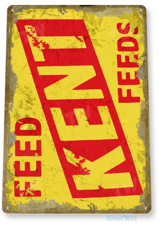 tin sign c311 kent feeds retro rustic feed seed store farm barn sign tinworld tinsign_com