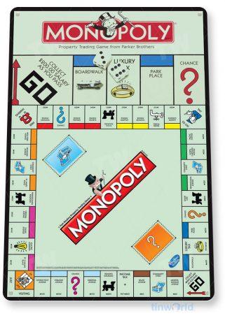 tin sign c318 monopoly classic retro game board gameroom sign tinworld tinsign_com
