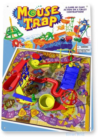 tin sign c321 mouse trap classic retro game board gameroom sign tinworld tinsign_com