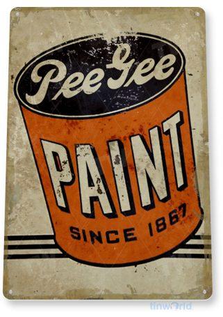 tin sign c329 pee gee paint rustic retro garage auto shop store sign tinworld tinsign_com