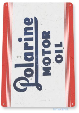 tin sign c333 polarine motor oil rustic retro gas station auto shop sign garage cave tinworld tinsign_com