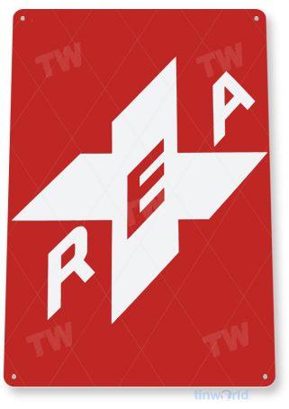 tin sign c337 rea railroad express agency retro railroad station sign tinworld tinsign_com