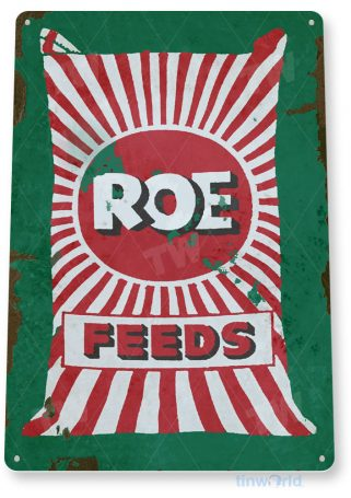 tin sign c343 roe feeds retro rustic feed seed store farm barn sign tinworld tinsign_com