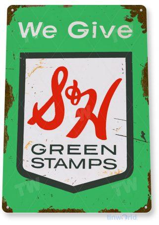 tin sign c344 s&h green stamps kitchen cottage farm sign tinworld tinsign_com