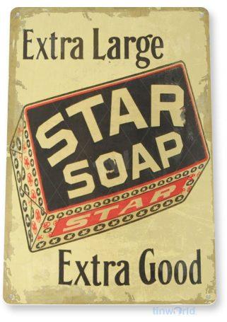 tin sign c349 star soap rustic retro store sign kitchen cottage farm tinworld tinsign_com