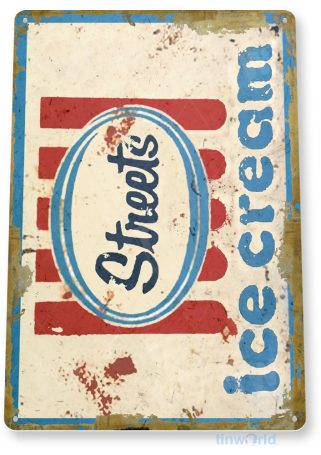 tin sign c351 streets rustic retro ice cream shop parlor store sign kitchen cottage tinworld tinsign_com