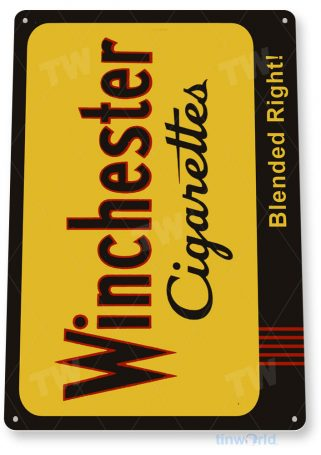 tin sign c368 winchester cigarettes retro tobacco smoke cigar bar shop sign tinworld tinsign_com