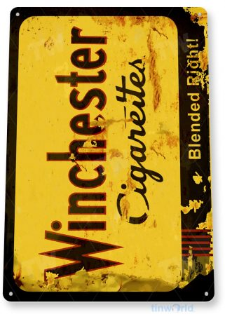 tin sign c369 winchester cigarettes rustic retro tobacco smoke cigar bar shop sign tinworld tinsign_com