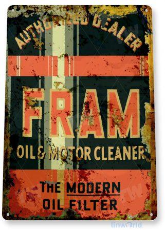 tin sign c371 fram oil filter gas station garage auto shop sign tinworld tinsign_com
