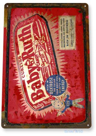tin sign c375 baby ruth chocolate candy bar retro kitchen cottage farm tinworld tinsign_com