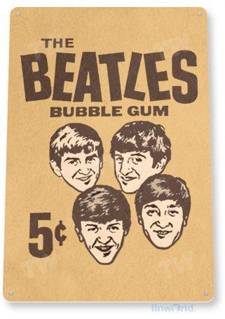 tin sign c376 beatles bubble gum retro vintage kitchen cottage store rock band tinworld tinsign_com