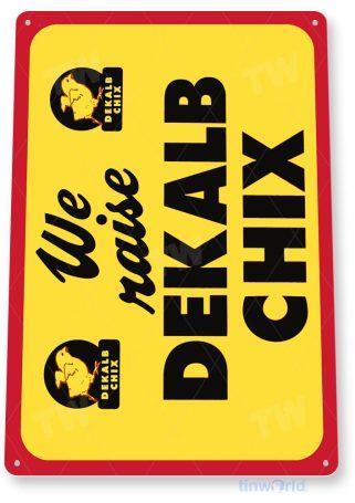 tin sign c388 dekalb chix chicken farm eggs kitchen cottage tinworld tinsign_com
