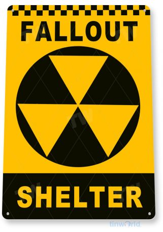 tin sign c394 fallout shelter rustic retro garage auto shop cave game room store sign tinworld tinsign_com