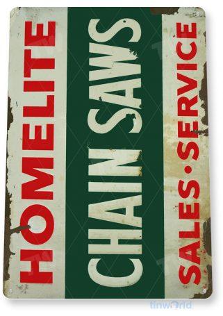 tin sign c402 homelite chain saws rustic retro garage shop store sign tinworld tinsign_com