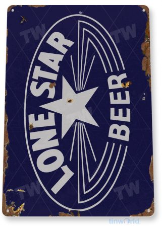 tin sign c405 lone star beer logo rustic retro bar pub beer brewery sign cottage cave tinworld tinsign_com