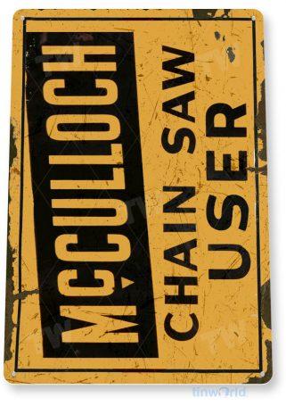 tin sign c411 mcculloch chain saw rustic retro garage auto shop store sign tinworld tinsign_com