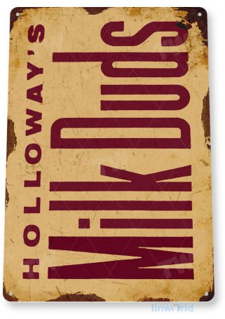 tin sign c413 milk duds retro rustic chocolate candy bar kitchen cottage store tinworld tinsign_com