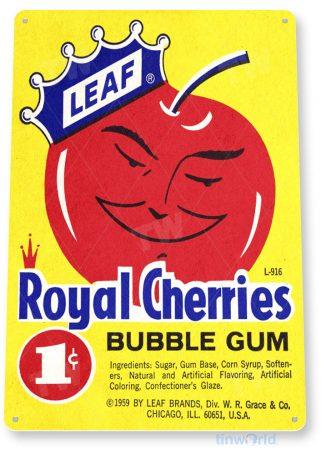 tin sign c425 real cherries bubble gum vintage retro kitchen cottage store tinworld tinsign_com