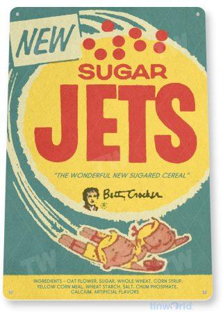 tin sign c432 sugar jets candy retro vintage bar kitchen cottage store tinworld tinsign_com
