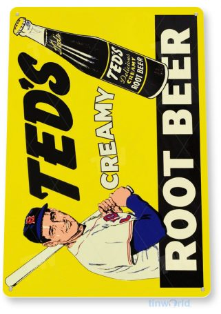 tin sign c435 teds root beer retro rustic cola soda bar store sign kitchen cottage cave tinworld tinsign_com