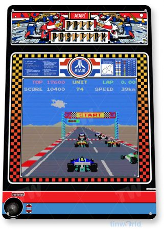 tin sign c445 pole position classic retro racing arcade game marquee console sign tinworld tinsign_com