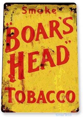 tin sign c455 boars head tobacco retro cigar smoke shop bar pub store sign cottage cave tinworld tinsign_com