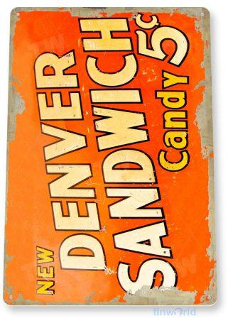 tin sign c469 denver sandwich candy bar kitchen cottage store tinworld tinsign_com
