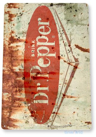 tin sign c472 dr pepper retro rustic cola soda store sign kitchen cottage cave tinworld tinsign_com