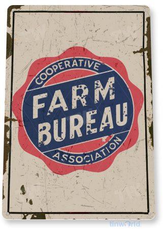 tin sign c475 farm bureau association cottage ranch retro farm sign tinworld tinsign_com