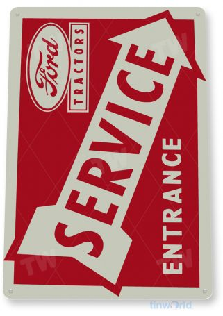 tin sign c477 ford tractor service rustic retro garage auto shop store sign tinworld tinsign_com