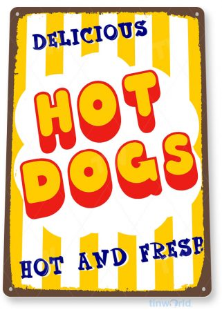 tin sign c482 hot dogs kitcken cottage farm fair park hot dog stand sign tinworld tinsign_com
