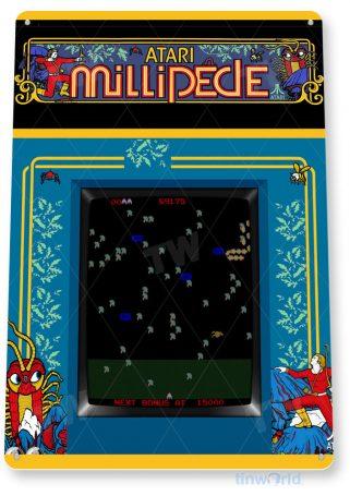 tin sign c486 millipede arcade arcade game room shop marquee sign retro console tinworld tinsign_com